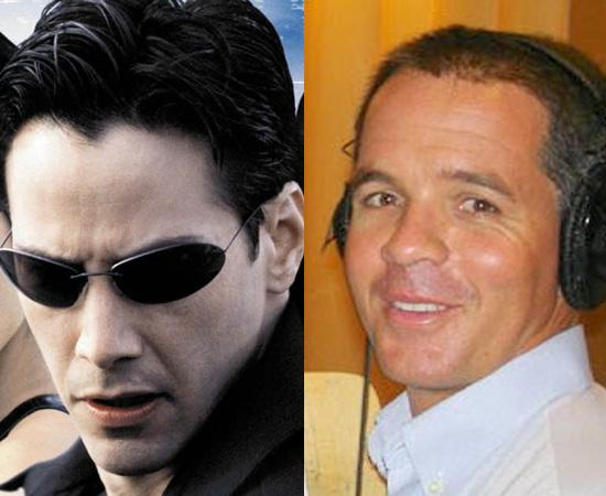 Dublador: Reinaldo Buzzoni. Fez a dublagem de Neo (Matrix) e de vários outros personagens de Keanu Reeves.