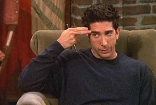 O paleontólogo Ross Geller, um dos protagonistas da série de tv <i>Friends</i>, também tem lugar nesta lista.