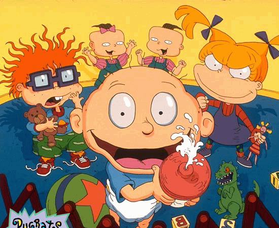 Rugrats, os Anjinhos (1991), é uma série animada sobre crianças que brincam juntas. Eventualmente, há desavenças entre elas.