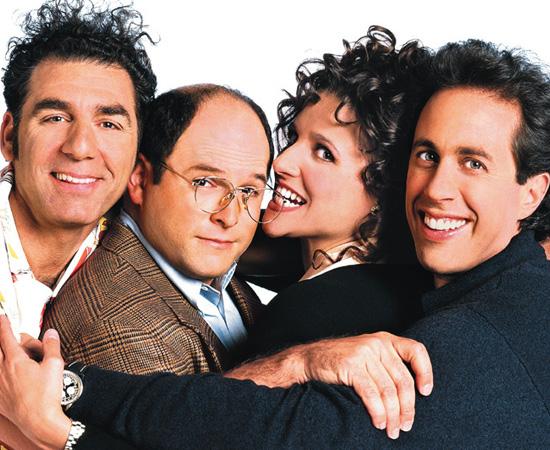 Seinfeld (1989) é uma série de humor que tinha um enredo diferente a cada episódio.