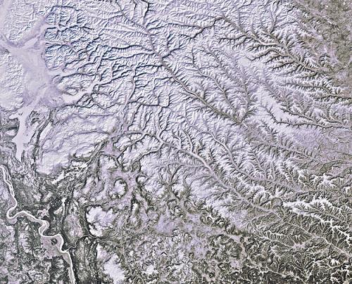 Você deve imaginar que o norte da Sibéria, que fica acima do círculo polar ártico, é um lugar frio durante todo o ano. Esta foto, tirada em 2012, deixa claro que isso é verdade.