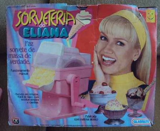 MAQUININHA DE COMIDA - Além da sorveteria, a criançada pedia a fábrica de pipoca, a de chocolate, a de picolé, a de algodão doce...