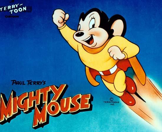 Super Mouse (1944) é um desenho animado sobre um rato super-herói.