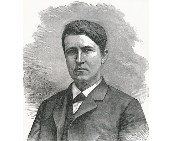 INVENTOR - O primeiro invento patenteado por Thomas Edison foi uma máquina de votar, pela qual ninguém se interessou. Durante os anos seguintes, ele teve mais sucesso e conseguiu vender algumas invenções.  Com o dinheiro, mudou-se para New Jersey e construiu um laboratório. Lá, desenvolveu o fonógrafo e a primeira lâmpada incandescente comercializável.