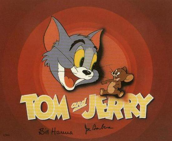 Tom e Jerry (1940) é um desenho animado que mostra as intrigas entre um gato e um rato.