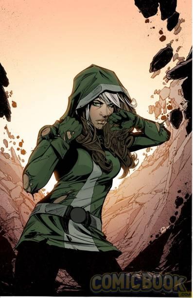 Vampira, uma das personagens mais complexas e interessantes do universo Marvel foi escolhida para ilustrar a capa deUncanny Avengers #7.Joelle Jones ficou responsável pela arte.