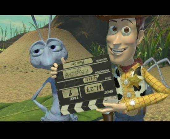 No fim do filme Vida de Inseto (1998), durante os créditos, o Woody de Toy Story aparece, segurando uma claquete virada ao contrário. É um Easter Egg para a sequência Toy Story 2, que estreou no ano seguinte.