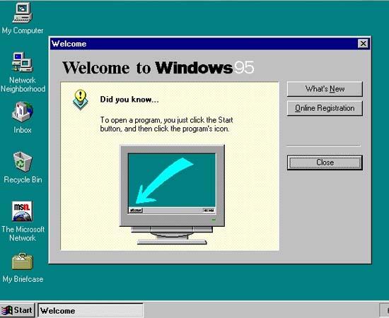 CONSOLIDAÇÃO - Em 1995, Gates lançou o Windows 95, um sistema operacional revolucionário para a época. Além da interface gráfica bastante superior ao do Windows 3.11, os usuários foram agraciados pela facilidade da função 'plug-n-play'. O lançamento desse sistema operacional causou uma grande crise entre Bill Gates e Steve Jobs, já que a Apple processou a Microsoft por copiar os softwares exclusivos da empresa. É bom lembrar que nessa época o acesso à Internet tornou-se praticável por usuários comuns, graças ao navegador nativo do Windows 95, o Internet Explorer.