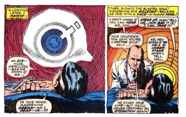 Cena da primeira revista própria de Doutor Estranho (1968)