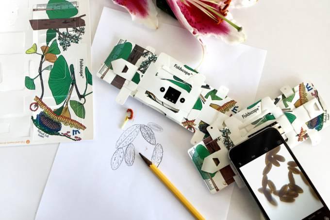 Monte seu próprio microscópio de papel – que funciona de verdade
