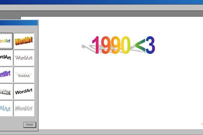 Gerador de WordArt deixa você expressar o seu saudosismo pelos anos 1990