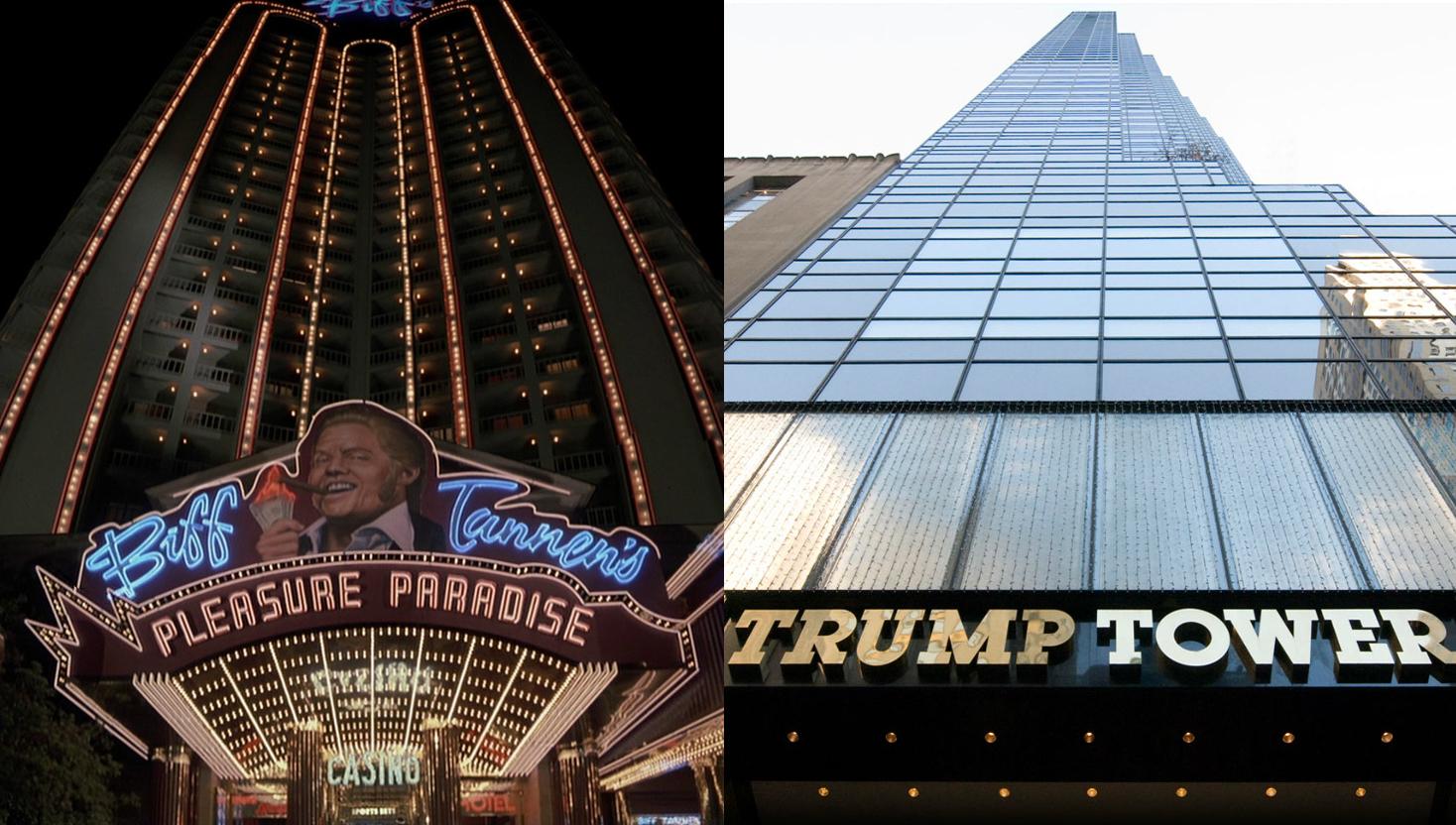 As Torres de Biff e Trump