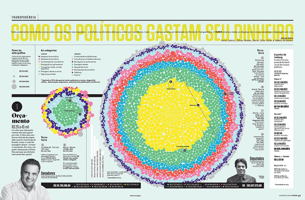 Como os políticos gastam seu dinheiro