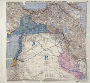 Risca-faca: assim nasceram os modernos Iraque e Síria | imagem: Royal Geographical Society