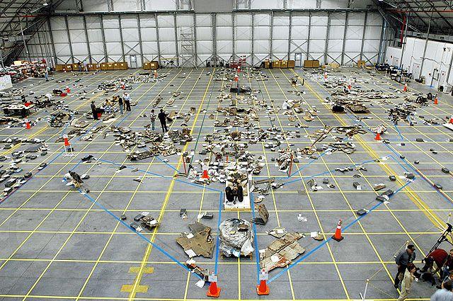 Columbia destroços
