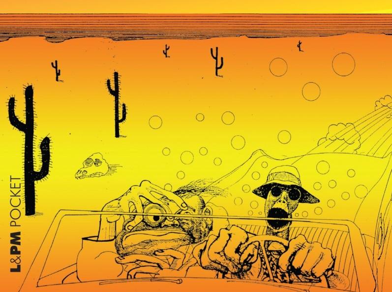 """Capa do livro """"Medo e Delírio em Las Vegas"""" do Hunter S. Thompson."""