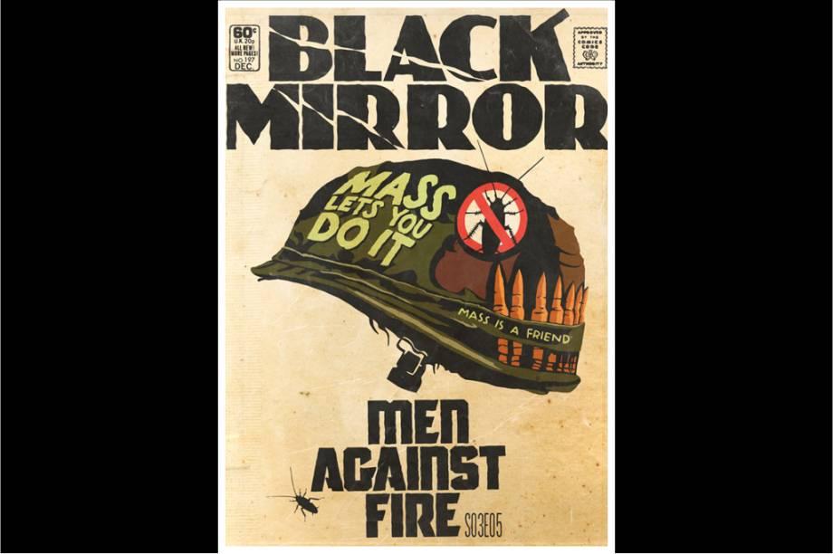 """""""Men Against Fire"""" é uma distopia na qual soldados com implantes ciborgues precisam defender pessoas comuns de """"baratas"""" - seres mutantes e perigosos. Mas nada é o que parece."""