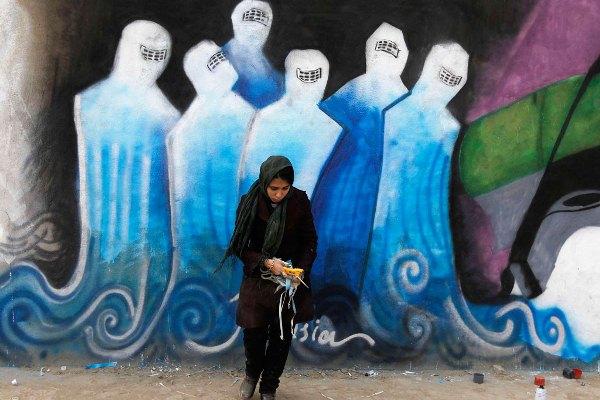 AFGHANISTAN-GRAFFITI/