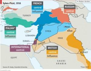A divisão acordada e as atuais fronteiras | imagem: The Economist