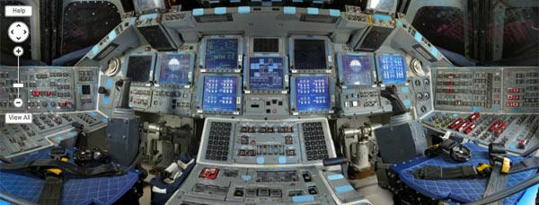 Veja como é o interior da cabine do Discovery