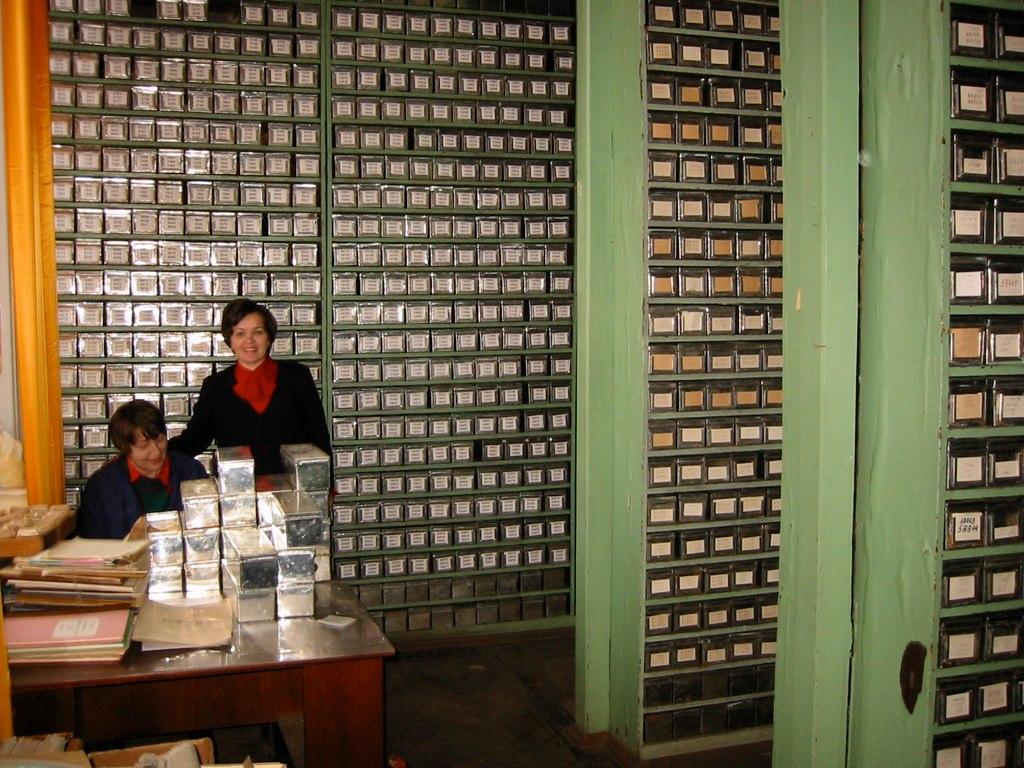 Vavilov Institute (VIR) in Sankt Petersburg March 2002. Seeds are stored in the large offices in thinn boxes.