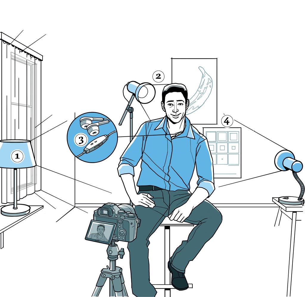 como montar um estúdio de vídeo caseiro