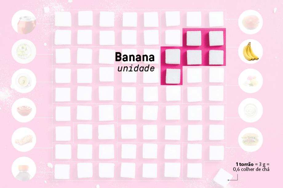 Banana - a unidade  <em>18 g</em>