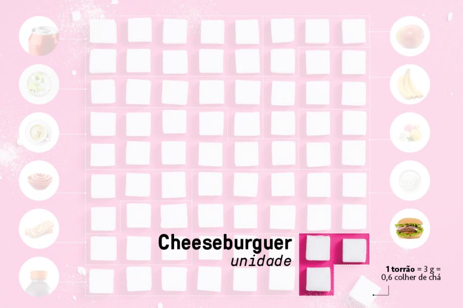 Cheeseburger - a unidade  <em>9 g</em>