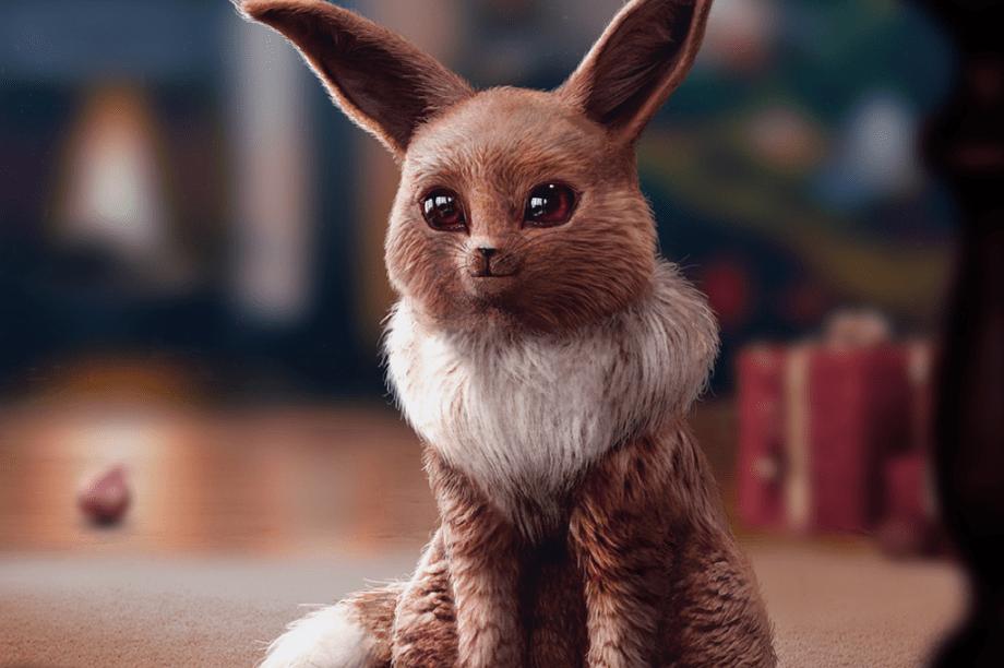 O <strong>Eevee</strong> é meio raposa, meio gato, meio um animal doméstico que ficaria ótimo como decoração de Natal (puxando os trenós do Papai Noel).