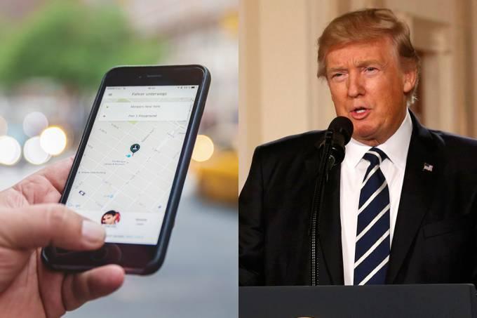 Polêmica com Trump faz 200 mil pessoas deletarem contas no Uber