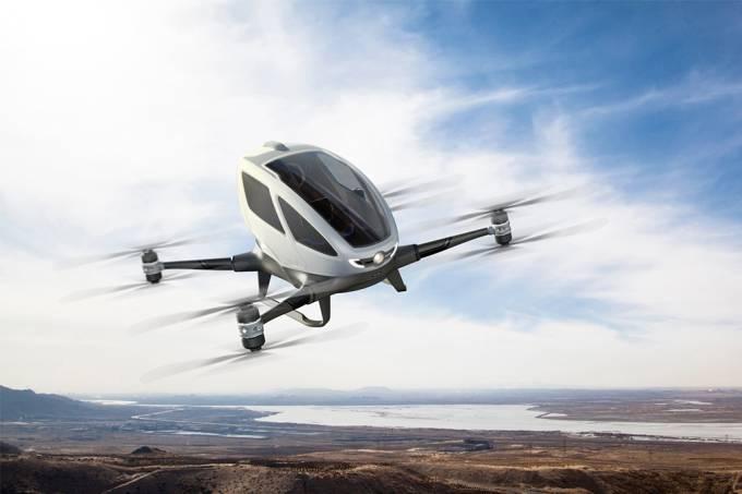 Táxi voador na forma de drone gigante vai estrear em julho, em Dubai
