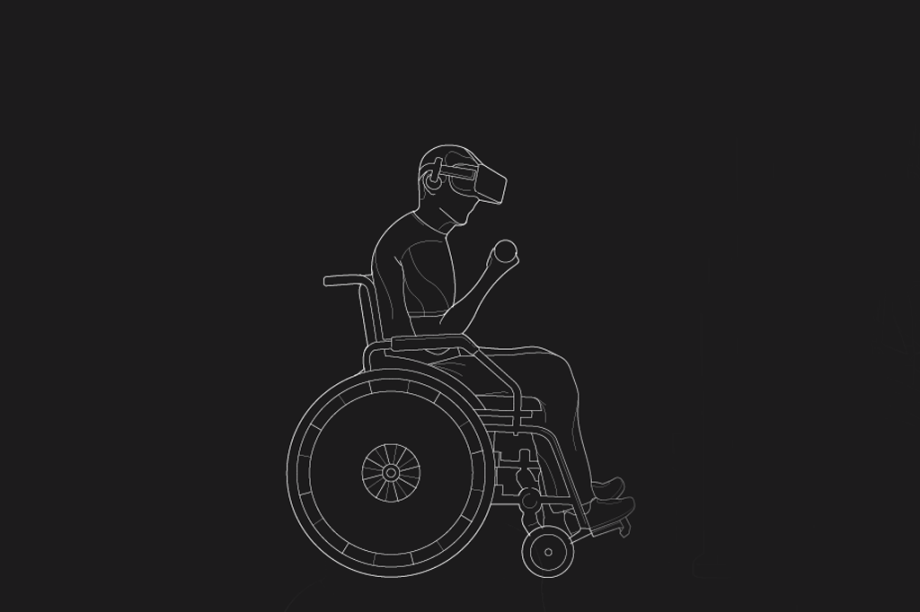 O processo começa ainda na cadeira de rodas, com o paciente imerso em realidade virtual com um traje tátil, que transmite sensações de movimento ao corpo.