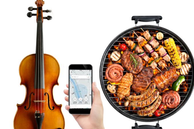 De violino a churrasqueira: as coisas bizarras esquecidas no Uber