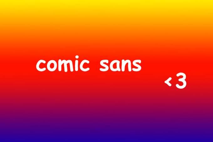 Comic Sans pode ser a melhor fonte para pessoas com dislexia