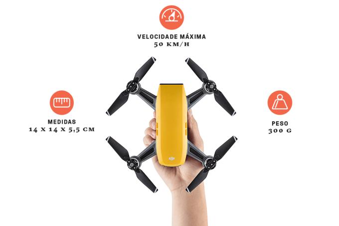 Este drone decola e pousa na sua mão