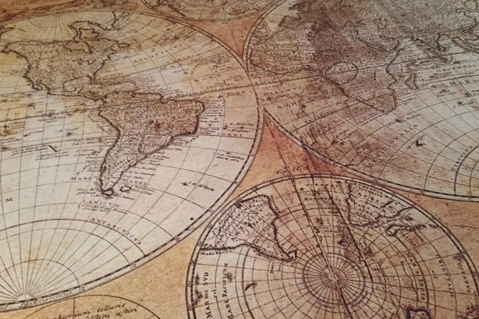 Como se faziam mapas de países e de continentes sem tecnologia