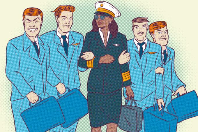 Quantas mulheres sãopilotas de avião no Brasil?