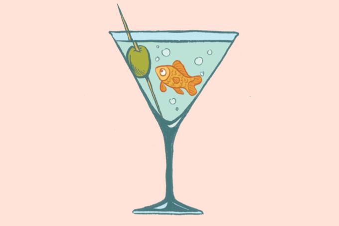 Peixinho de aquário produz o próprio álcool