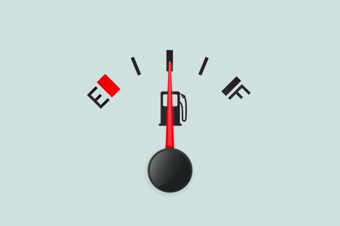 Por que a primeira metade do tanque de combustível gasta mais devagar
