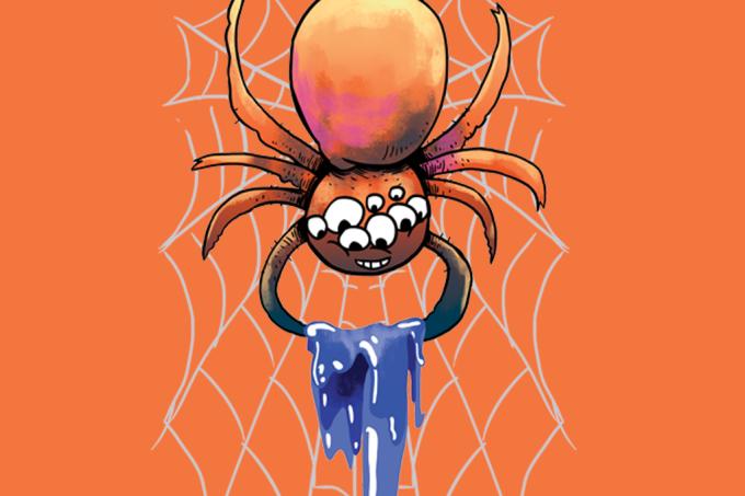 Por que as aranhas não ficam presas nas próprias teias