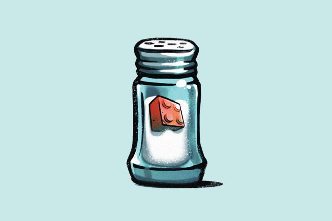 Sal marinho está contaminado com plásticos