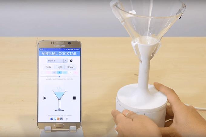 Drinks de realidade virtual transformam água em vinho