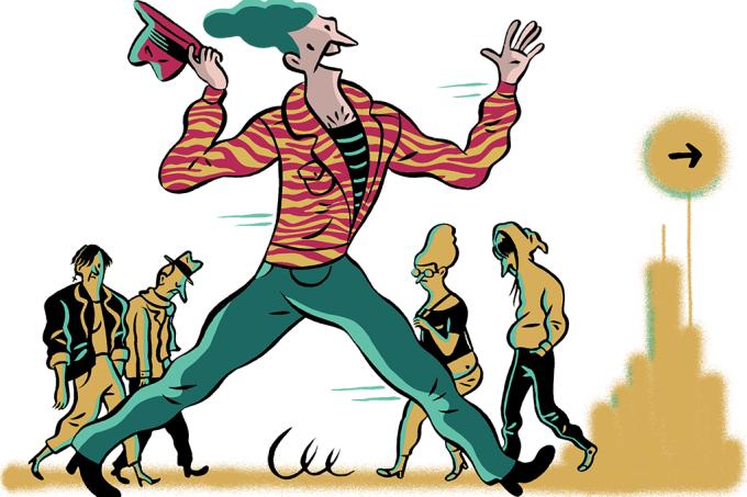 Extrovertidos andam mais rápido