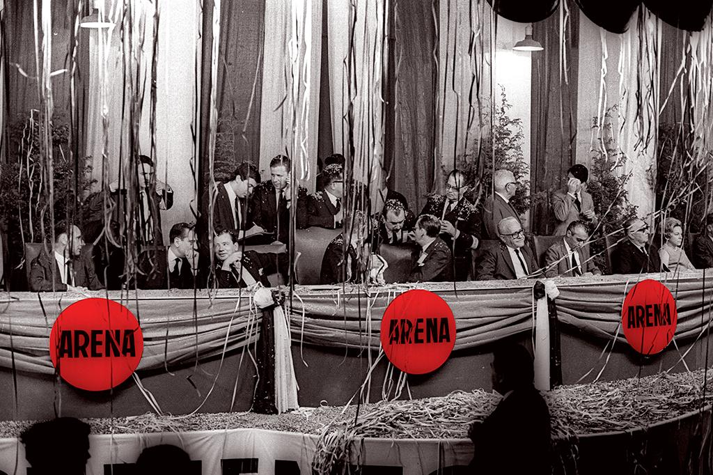 Convenção da Arena, em 1966. O partido era a base do regime no Congresso