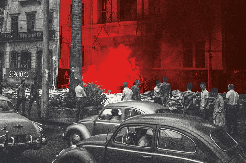 Já no primeiro dia de ditadura, a extrema-direita incendiou a sede da UNE, no Rio. Em 1968, os ataques se generalizaram, com a conivência de Costa e Silva.