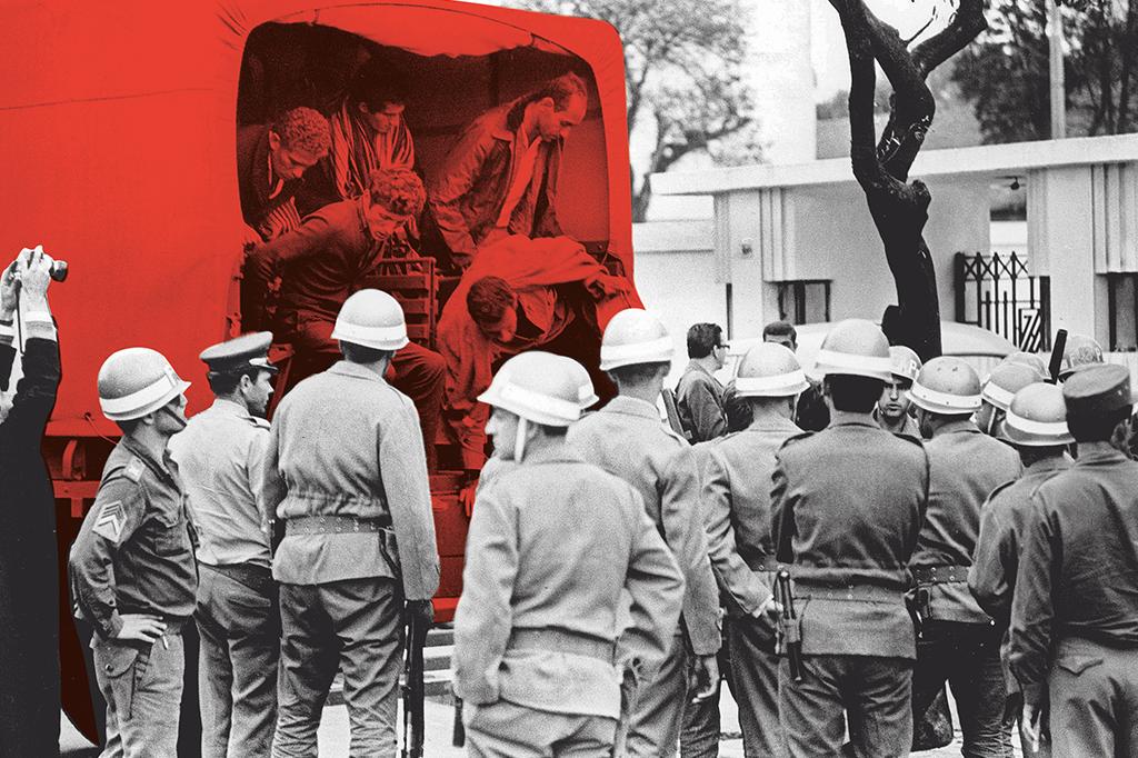 Força Pública leva estudantes do Congresso da UNE ao presídio Tiradentes.