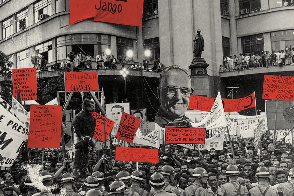 Comício da Central, dia 13 de março. Essa foi a primeira e última tentativa de Jango governar pelas ruas. Conservadores se assustaram e deram um golpe 18 dias depois.