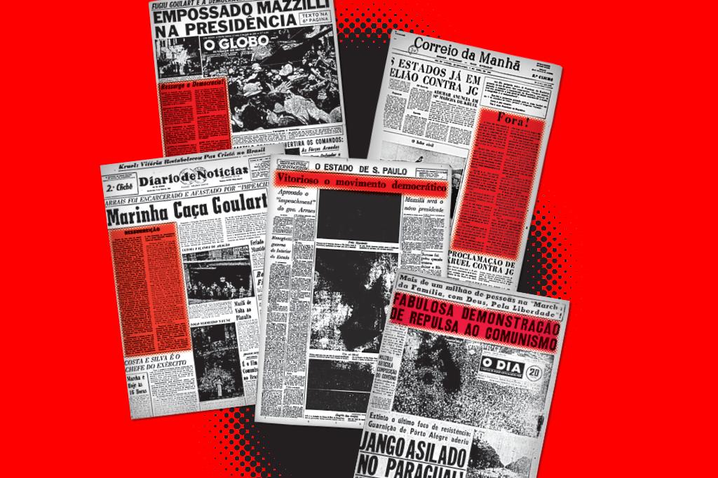 Jornais não receberam o golpe com surpresa. Pelo contrário, muitos veículos eram próximos dos conspiradores e comemoraram abertamente a derrubada de Jango.
