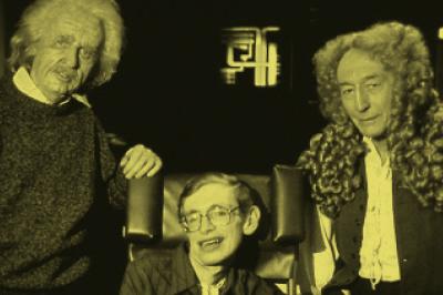 Star Trek: Aqui, Hawking jogou pôquer contra Einstein e Newton.
