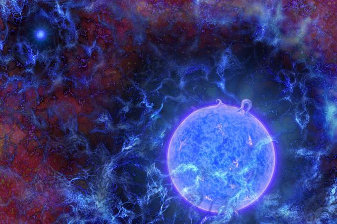 Astrônomos detectam sinais das primeiras estrelas do universo